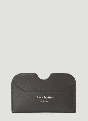 Acne Studios Leather Card Holder in Black