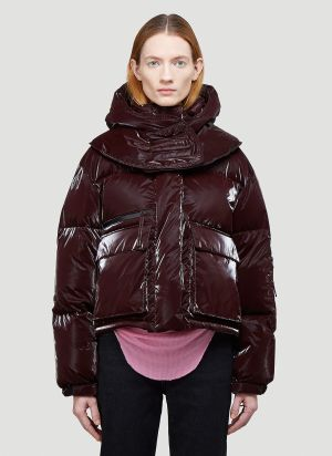 Helmut Lang Liquid Puffer Jacket in Red