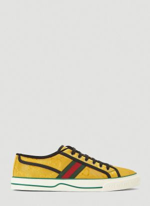 Gucci Eco-Nylon Tennis 77 Sneakers in Yellow