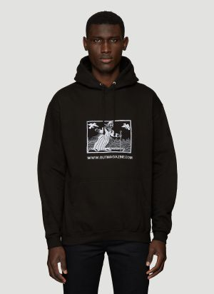 GUT Magazine The Witch Hooded Sweatshirt in Black