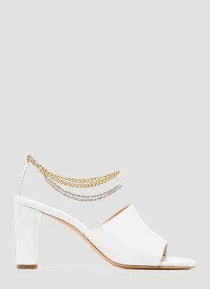 Kalda Inez Heeled Sandals in White