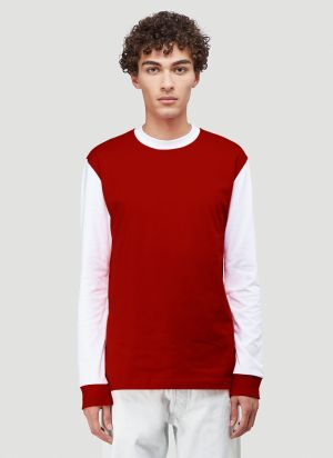 Lack of Guidance X Eighteen86 Charlie Long-Sleeved T-Shirt in Red