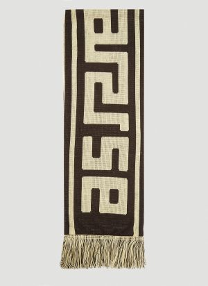 Aries Meandros Football Scarf in Brown