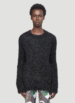 Walter Van Beirendonck Glitter Knit Sweater in Black