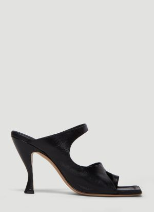 Bottega Veneta Leather Mules in Black