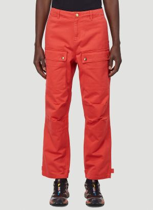 Vyner Articles Wit Cargo Pants in Red