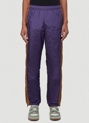 Acne Studios Striped Track Pants in Purple