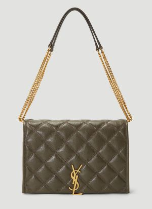 Saint Laurent Becky Chain Bag in Green