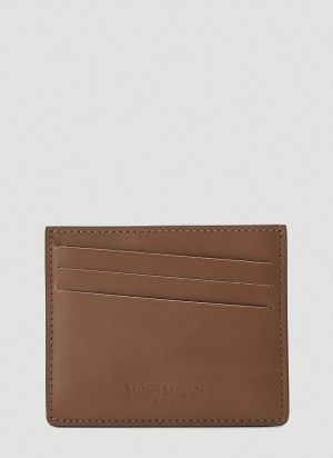 Maison Margiela Leather Card Holder in Brown