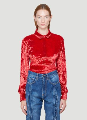 Y/Project Velvet Shirt in Red