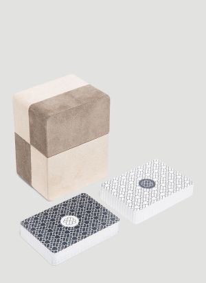 GioBagnara Flow Playing Cards Holder in Beige
