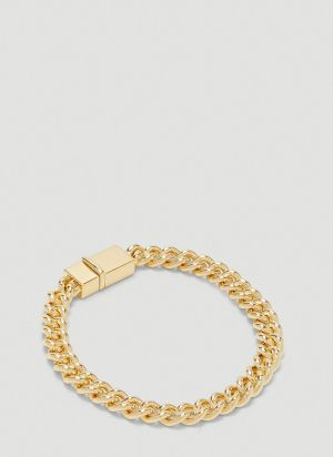 Tom Wood Thick Rounded Curb Bracelet in Gold