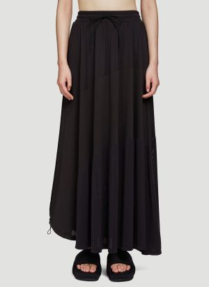 Y-3 Drawstring Hem Skirt in Black