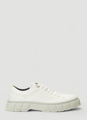 Virón 2005 Faux-Leather Sneakers in White