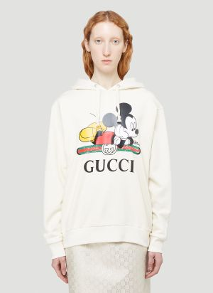 Gucci X Disney Hooded Sweatshirt in White