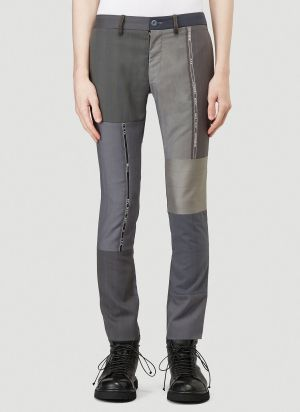 Children Of The Discordance Tailored Patchwork Pants in Grey