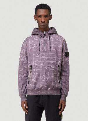 Stone Island Gillie Laser Camouflage Hooded Sweatshirt in Pink