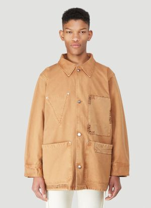Vyner Articles Worker Oversized Jacket in Brown