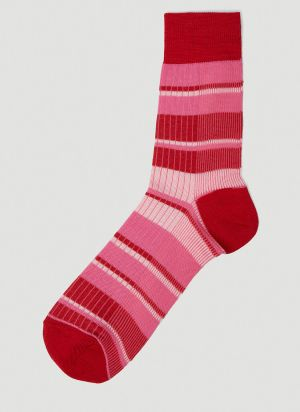Marni Striped Socks in Pink