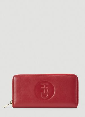Honey Fucking Dijon Logo Wallet in Red