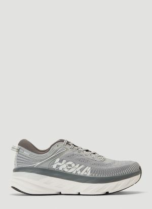 Hoka One One Bondi 7 Sneakers in Grey