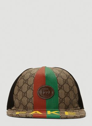 Gucci Not Fake Cap in Brown