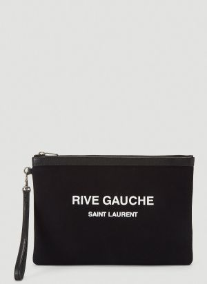 Saint Laurent Rive Gauche Pouch Bag in Black
