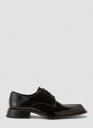 Martine Rose Squared Toe Lace-Up Shoes in Black