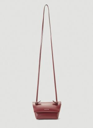Acne Studios Micro Leather Shoulder Bag in Red