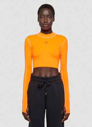 adidas by Stella McCartney Cut-Out Crop Top in Orange