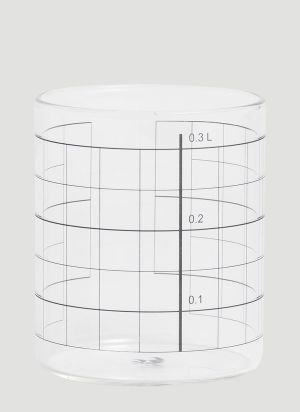 Tre Product Double Lines Glasses Set in White