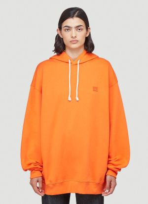 Acne Studios Oversized Hooded Sweatshirt in Orange