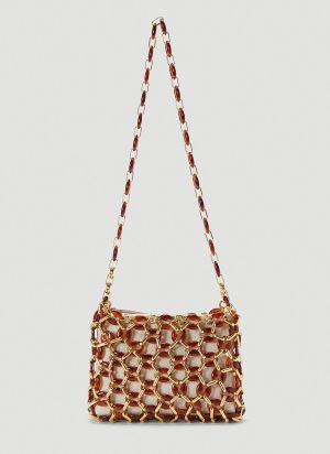 by Far Capria Embellished Shoulder Bag in Brown