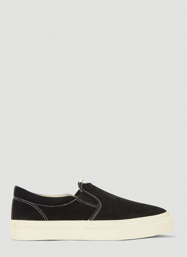 S.W.C Lister Suede Sneakers in Black