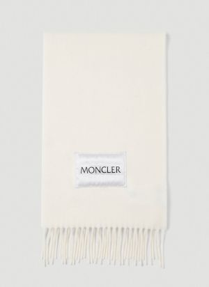 Moncler Wool Scarf in White