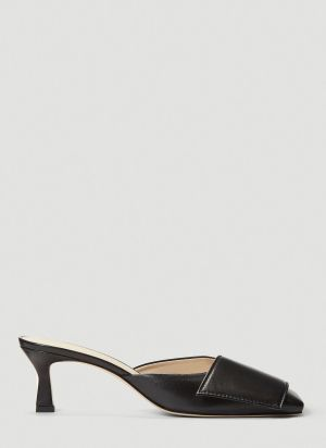 Wandler Isa Heeled Mules in Black