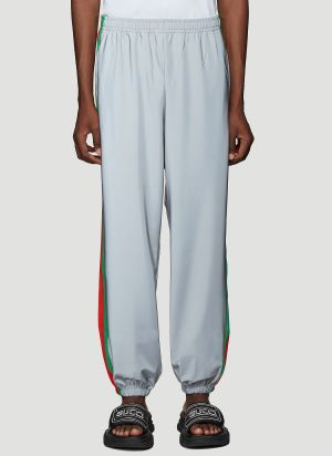 Gucci Reflective Track Pants in Grey