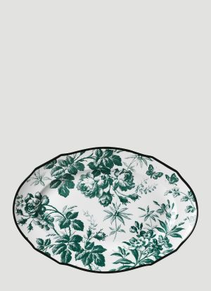 Gucci Herbarium Hors D'oeuvre Plate in Green