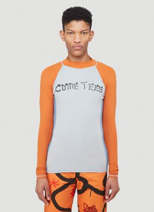 Come Tees Rashguard Stretch Top in Blue