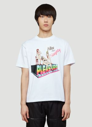 Pleasure Naughty And Nice T-Shirt in White