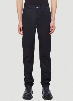 Raf Simons Zipped Jeans in Black