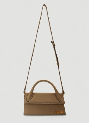 Jacquemus Le Chiquito Long Shoulder Bag in Brown