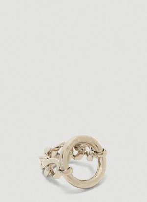 MM6 Maison Margiela Chain Ring in Silver