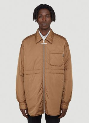 Marni Nylon Parker Jacket in Brown