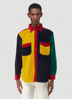 Wales Bonner Notting Hill Patchwork Shirt in Yellow