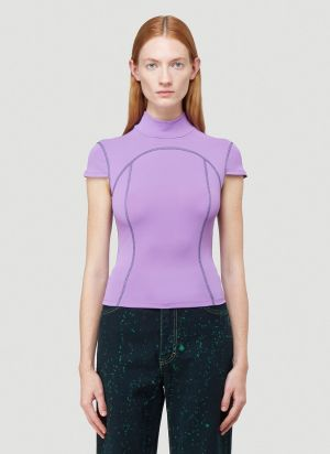 Eckhaus Latta Sport T-Shirt in Purple