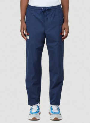 Gucci Web-Trimmed Track Pants in Blue