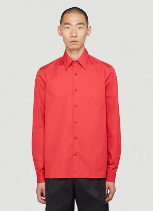 Prada Poplin Shirt in Red