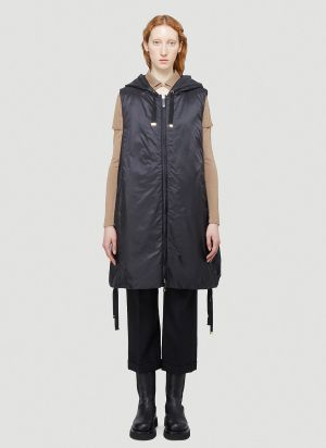 Max Mara Cube Greengi Gilet Coat in Black