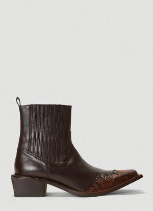 Martine Rose Que Boots in Black